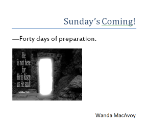 Sunday's Coming
